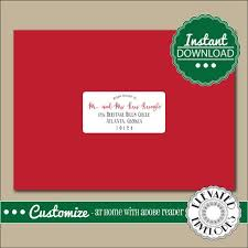 How To Address A Christmas Card Editable Address Label Template Envelope Addressing Christmas Elegant Recipient Addressing Envelope Addressing Instant Download