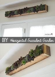 succulent in decor diy horizontal planter savedbyloves