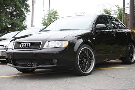 black audi a4 2004. dpe s20 wheels black on audi b6 a4 2004