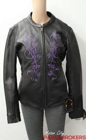 milwaukee leather purple embroidered stars women s leather motorcycle jacket
