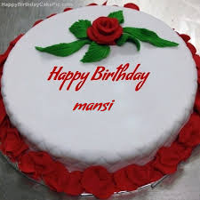 Red Rose Birthday Cake For Mansi