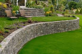 backyard retaining wall designs. Unique Retaining Curved Retaining Wall And Landscape Big Sky Landscaping Inc  Portland OR And Backyard Designs Y