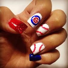Nail Design Chicago Chicago Cubs Nails Cute Nails Baseball Nails Nails