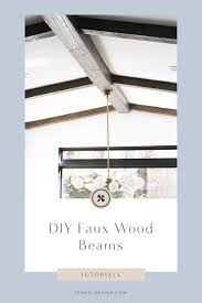 diy faux wood beams stagg design