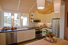 vaulted ceiling kitchen lighting. Kitchen Lighting Vaulted Ceiling. Ceiling Features Paneling Custom Painted Cabinetry Pendant Honed G