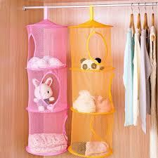 hanging door closet organizer. 3 Shelf Hanging Storage Net Bedroom Door Wall Closet Toy Organizer Bag Space Saving Wardrobe E