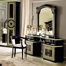 black bedroom vanities. Captivating Image Of Bedroom Decoration Using Modern Gold And Black Vanity Dresser Including Light Gray Wall Paint Wood Vanities T