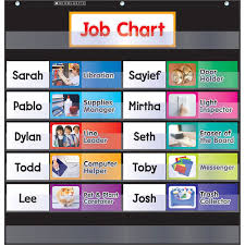 Scholastic Daily Schedule Pocket Chart Pocket Chart Class Jobs Black