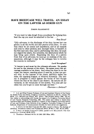 have briefcase will travel an essay on the lawyer as hired gun what is heinonline