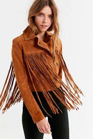 brown jackets leather suede jackets urban outfitters womens suede moto fringe jacket brown