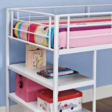 walker edison metal twin low loft bed