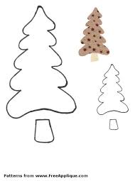 Free Christmas Tree Template Free Christmas Tree Patterns For Applique In Different Shapes