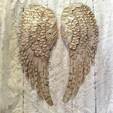 angel wings wall wing hanging bedroom decor large metal distressed by art silver