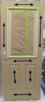 staining a fiberglass door the