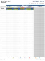 work scheduler excel staff rotation schedule free template for excel