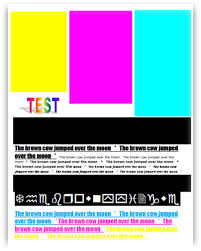 Small Picture colour laser printer test page printer test page universal ink