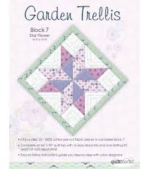 Small Picture Quilt Block of the Month Cotton Fabric Garden Trellis Block 7