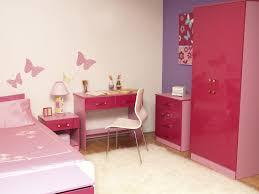 Silver And Pink Bedroom Furniture For Teenage Girls With Pink Wardrobe And Bed Frame