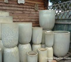 extra large tall glacier white glazed pot planters woodside garden centre pots to inspire