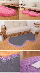 Carpet For Kitchen Floor 70140cm Double Heart Shape Bathroom Mats Large Shaggy Rug