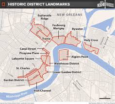 new orleans historic district landmarks map