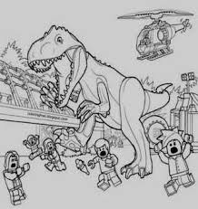 Coloring Pages Dinosaurs Printable Lego Jurassic World Coloring