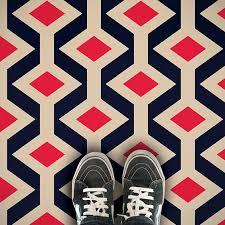 colourful geometric patterned vinyl flooring from forthefloorandmore com