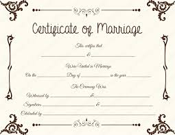 Fake Marriage Certificate Printable Sample Marriage Certificate
