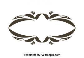vintage frame design oval. Vintage Oval Floral Decorative Frame Design Free Vector R