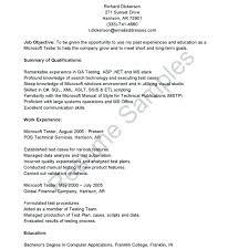 Manual Testing Sample Resumes Best of Manual Testing Sample Resumes Year Experience Resume Format For