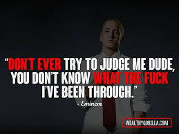 Rap Quotes 2017 Interesting 48 Greatest Eminem Quotes Lyrics Of All Time Wealthy Gorilla