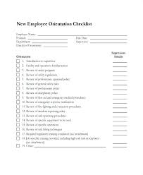 New Employee Checklist Template Hire Orientation Form Excel