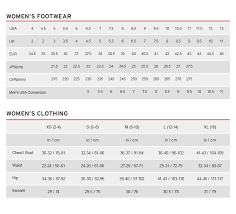 mexico clothing size chart size chart