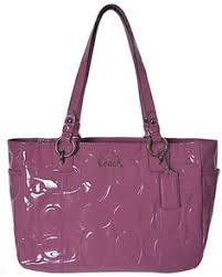 Click Image Above To Buy  Coach Embossed Signature Patent Leather Gallery  East West Tote 17728 Rose Pink