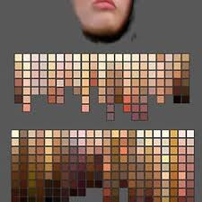 Skin Tone Color Chart Photoshop Skin Tone Palettes Pearltrees