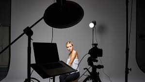 four light setup using only grids for studio portrait photographers