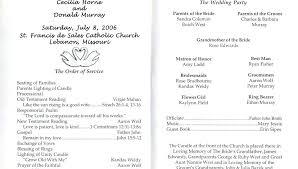 Catholic Wedding Ceremony Program Examples Free Template Without ...