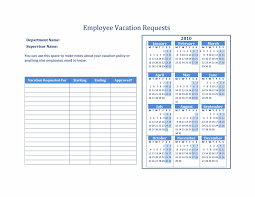 Employee Vacation Request Form Template. Vacation Request Form ...
