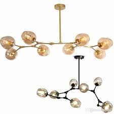 lindsey adelman globe branching bubble chandelier 110v 220v nordic modern chandelier light lighting pendent lamp glass ball lamp swag chandelier twig