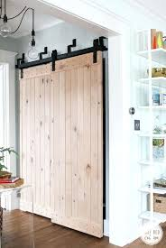 sliding closet barn doors turn into wood door hardware track system set bypass