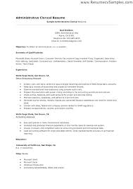 Administrative Clerical Resume 1080 Player