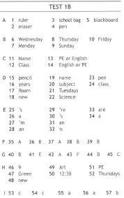 Решебник ГДЗ Ответы test booklet spotlight класса Ответы на  Ключи к тестам