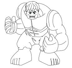 Pencil drawing with hulk, which can be easily colored. Hulk Superheroes Printable Coloring Pages