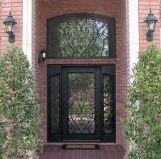 iron front doorsWrought Iron Front Doors with Sidelights  Feel Unsatisfied with