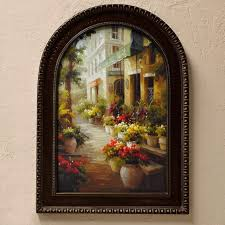 chemin de fleur so french country find this street of flowers relating to framed tuscan wall