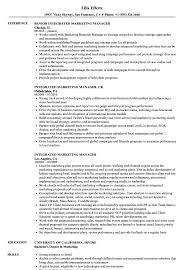 Sponsorship Marketing Manager Resume Samples Resume Draft Free Integrated  Marketing Manager Resume Sample Sponsorship Marketing Manager