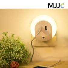 2018 led night light sensor and dual usb wall plate charger with dusk to dawn best night lights waterproof for kids indoor lighting from jeromepeng