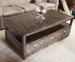 diy coffee table with drawers diy coffee table with storage took some hunting but