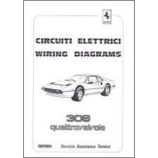 wiring diagrams pdf ferrari automobilia maranello literature 17 25 1984 ferrari 308 quattrovalvole wiring diagrams 303 84 pdf it uk