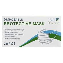Safe Warrior <b>Disposable Protective Mask</b> White and Blue | Walgreens